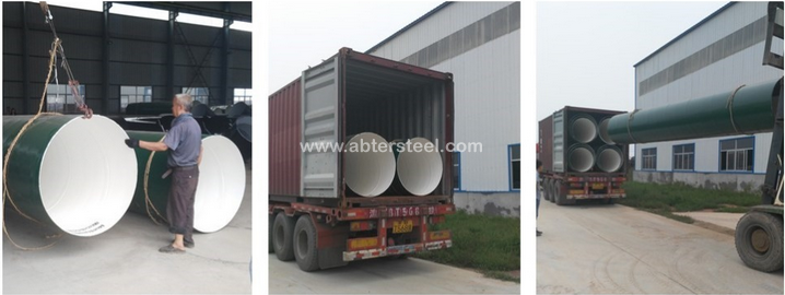 Epoxy paint finish 3pe anticorrosive screw steel pipe in gas oil pipeline