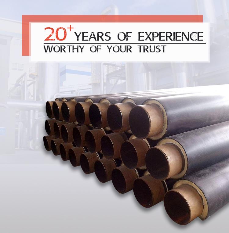 زیرزمینی لوله مستقیم به خاک سپرده پلی اورتان پیش عایق مواد عایق حرارتی فولاد برای آب گرم